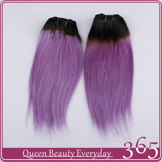 Ombre Hair Extensions 1b Light Purple Brazilian Virgin Human Hair