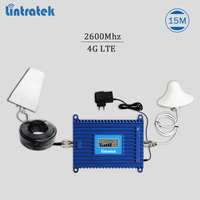 Lintratek 4G signal repeater LTE 2600Mhz cellphone signal booster 4G 2600 amplifier AGC LTE mobile repeater 70dBi full kit #6