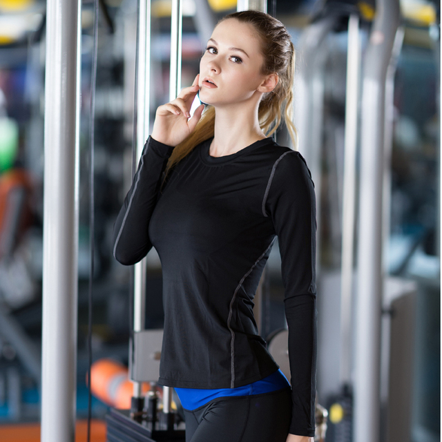 Ladies Quick Drying Long Sleeve Fitness Top 4