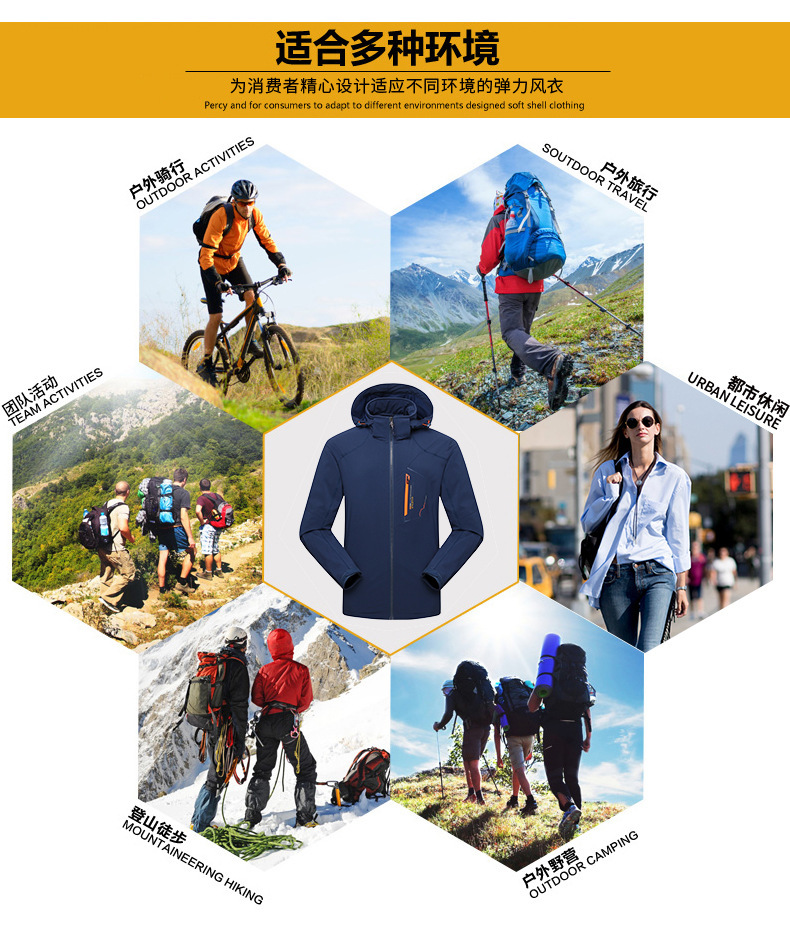Windbreaker M65 Spring Winter Outdoors Camping Trekking Hiking Tactical Clothes Loose Coat Male Shark Soft Shell Increase Down Sports & Entertainment