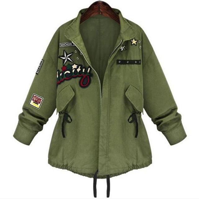 1 UNID Otoño Chaqueta de Las Mujeres Mujeres de la Chaqueta de Bombardero Militar Abrigos Básicos Ocasionales Moda Casacos Jaqueta Feminina Chaquetas Mujer