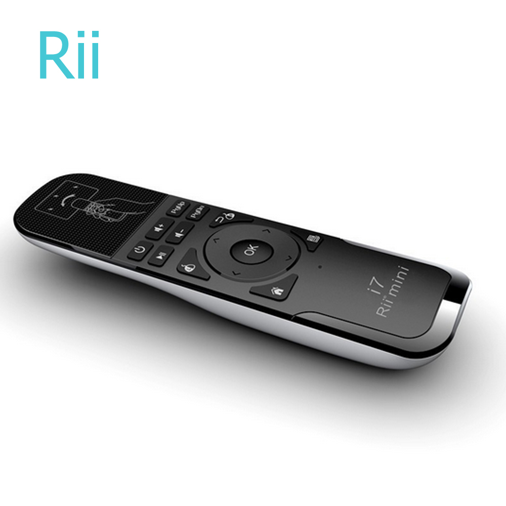 Rii mini i7 Mini Fly Air Mouse 2.4G Wireless Built-in 6 Axis Gaming Motion Sensing Remot ...