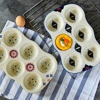 Творческий керамический суффри форма для бисквита Круглый 6-link торт панель для выпечки не прилипание чашки Маффин, кекс форма для духовки пр...