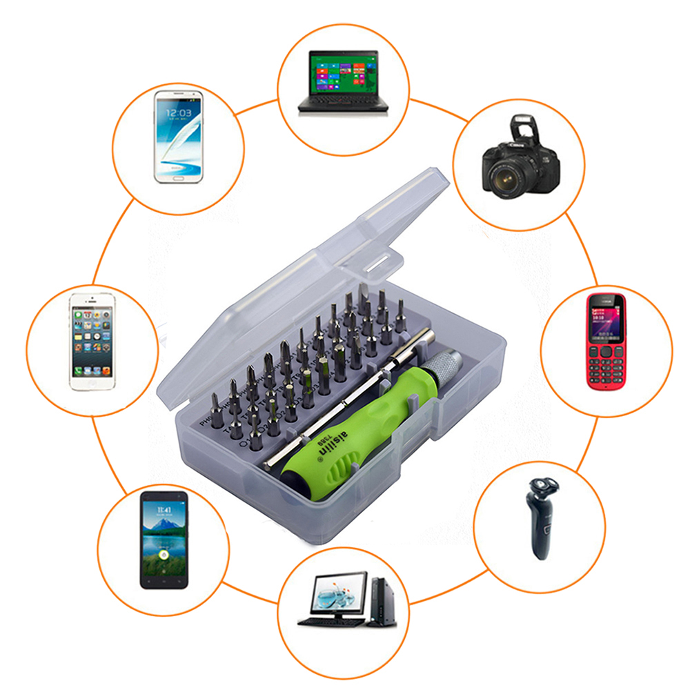 32 In 1 Precision Magnetic Screwdriver Set Mini Screwdriver Bits Repair Tool for Mobile Phone Laptop Computer Tablet