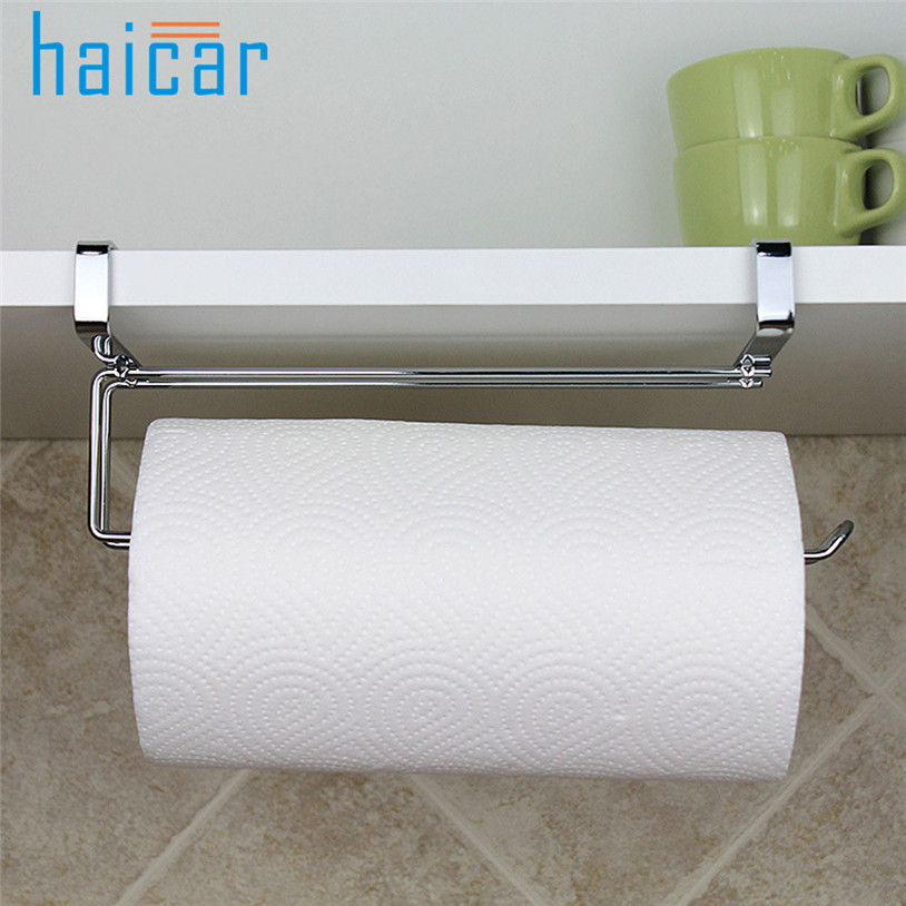 Bathroom Fixtures Bathroom Hardware Popular Brand Wholesale Kitchen Towel Holder Roll Paper Storage Rack Tissue Hanger Under Cabinet Door Drop Shipping #20