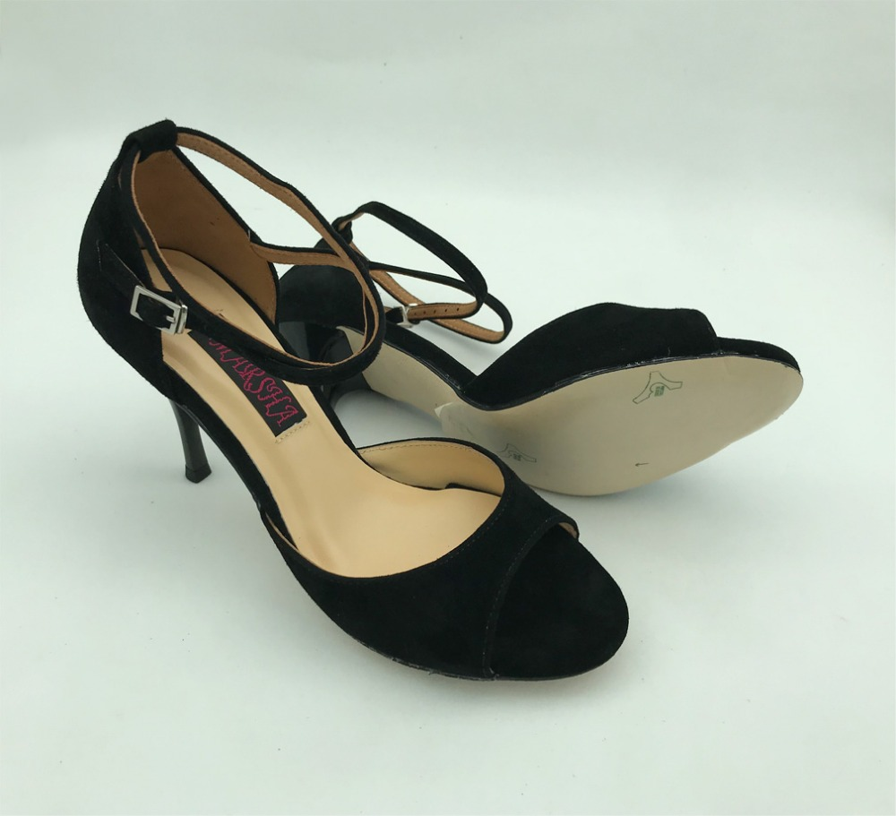Comfortable and Fashional Argentina Tango Dance Shoes Party Shoes Wedding Shoes black suede argentina leather outsoleT6282A