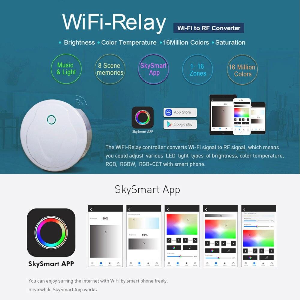 tira luz controlador wi fi rf sem