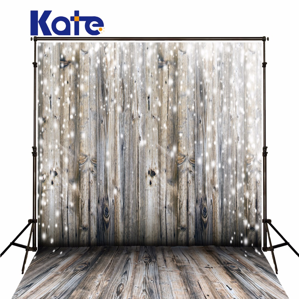 Kate Retro Christmas Backdrop Photography Wooden Wall And Wood Floor Photo Studio White Lights For Newborn Photo Backdrop
