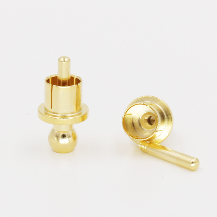 12pcs X Noise Stopper Gold Plated Copper Cap Dust Protector Rca Plug Caps Strong Packing Accessories & Parts