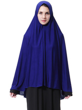 Muslim Black Face Cover Niqab Burqa Bonnet Islamic Khimar Long Hijab Loop Scarf Jilbab Prayer Clothing Headscarf Abaya Ramadan