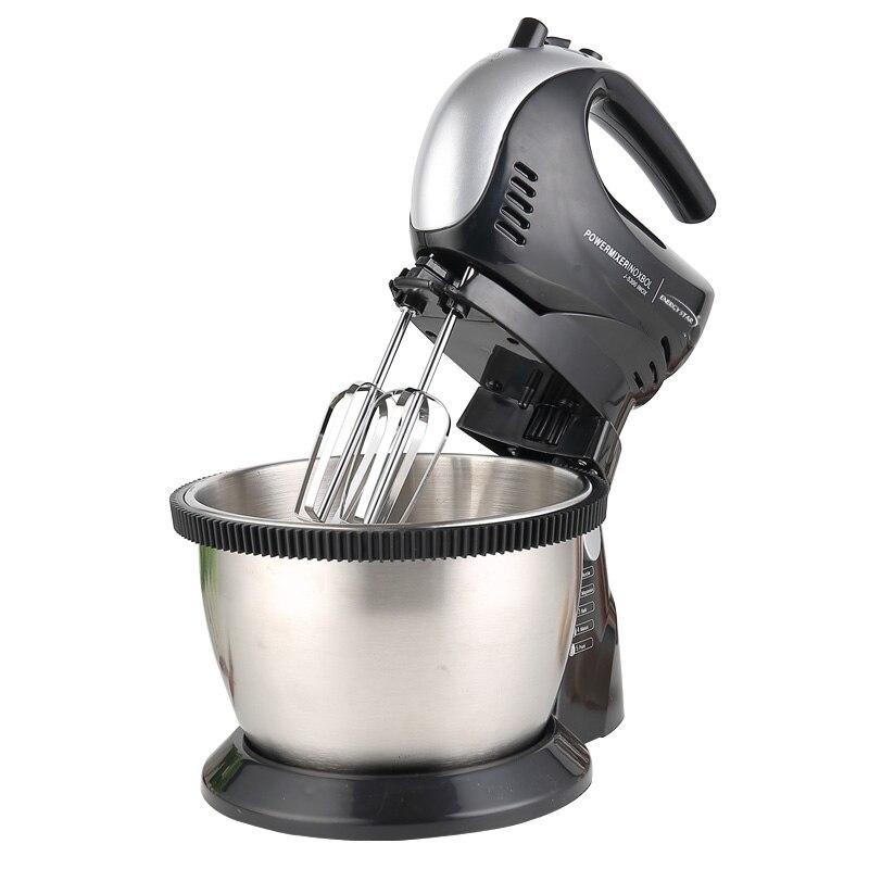 220V Multifunctional Electric Desktop / Handheld Double Using Dough Mixer Automatic Egg Cream Salad Beater Food Mixer EU/AU/UK