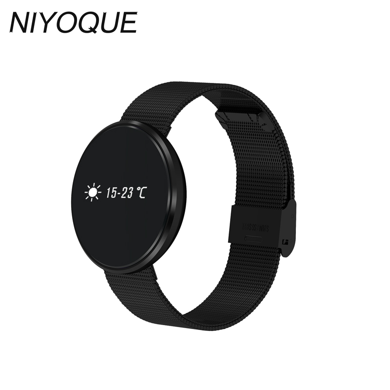 NIYOQUE 2017 Smart Bracelet B10 Waterproof Pedometer Heart Rate Sleep Monitor Blood Pressure Alarm Clock Smartband