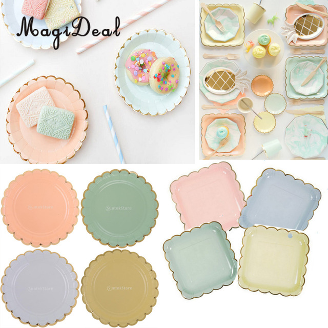 MagiDeal 8pcs/Lot Disposable Paper Flower Plates Birthday Party Tableware DIY Candy Color Dinner Paper  sc 1 st  AliExpress.com & MagiDeal 8pcs/Lot Disposable Paper Flower Plates Birthday Party ...