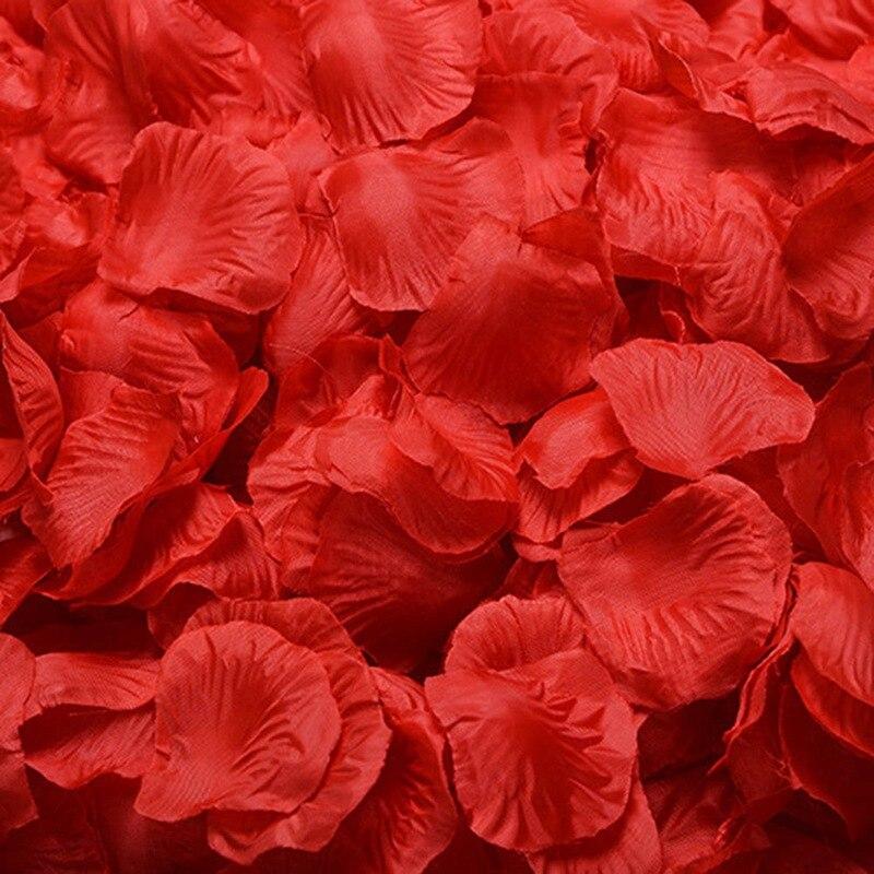 100pcs/lot Cheap Slik Artificial Rose Petal Wedding Party
