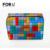 Lujo Colorido Geométrico Bolsas Mujeres de la Marca de Cosméticos de Maquillaje Organizador de Viajes Nesesser Belleza Estuche Portátil maleta de maquiagem