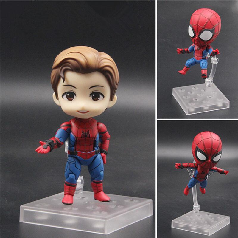 Spider Man Nendoroid 781# Avengers Spider-Man Marvel Movie Anime Action Figure PVC toys Collection figures for friends gifts figma x man series spiderman figure no 001 revoltech deadpool with bracket no 002 revoltech spider man action figures