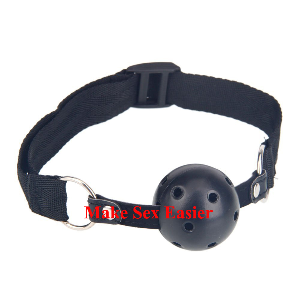 Buy Solid Mouth Ball Gag Mouth Stuffed Black Slave Mouth Gag Sex Toys Couple Fetish Harnesses Bondage Adult Games
