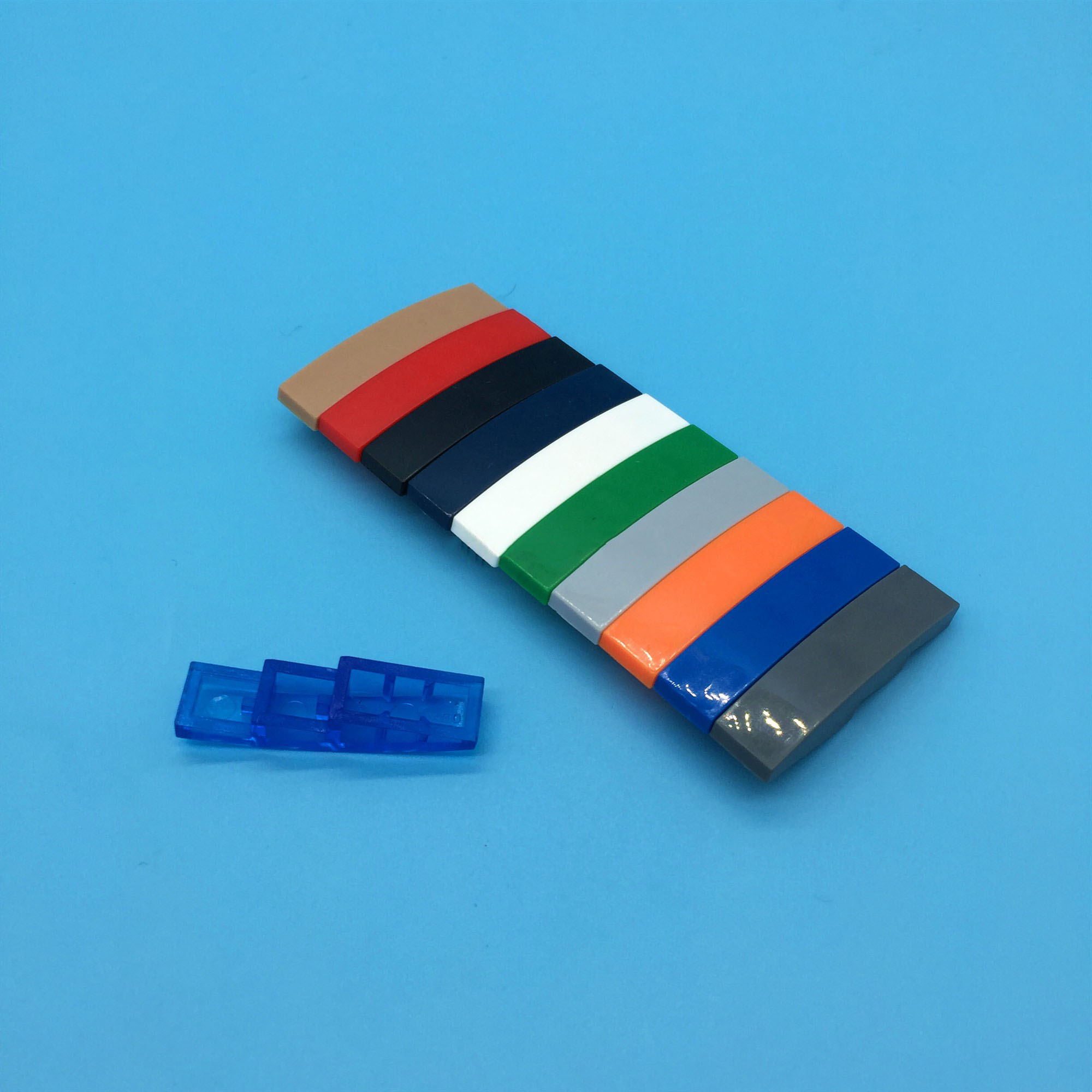 LEGO Parts~ Curved 4 x 1 No Studs BLACK 61678 4 Slope
