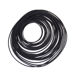 Black Rubber Small Fine Pulley Pully Belt Engine Drive Belts For DIY Toy Module Car 30mm to 120mm Dia 1Pack
