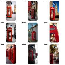 Soft Bags Cases For Samsung Galaxy A3 A5 A7 J1 J2 J3 J5 J7 2015 2016 2017 Classic British London Red Telephone Box And Big Ben(China)