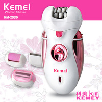 4 in 1 lady epilator depilador women shaver kemei female shaving machine body care hair trimmer electric removal tweezer