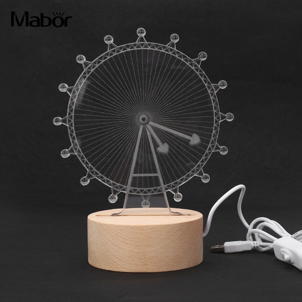 Exquisite Ferris Wheel LED Light Study Lamp Living Room Warm White Night Light New Year Party Decoration Drop Shipping
