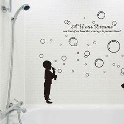 SIZE:1500 x 1300mm boys girls glass film wallpaper poster nursery ...