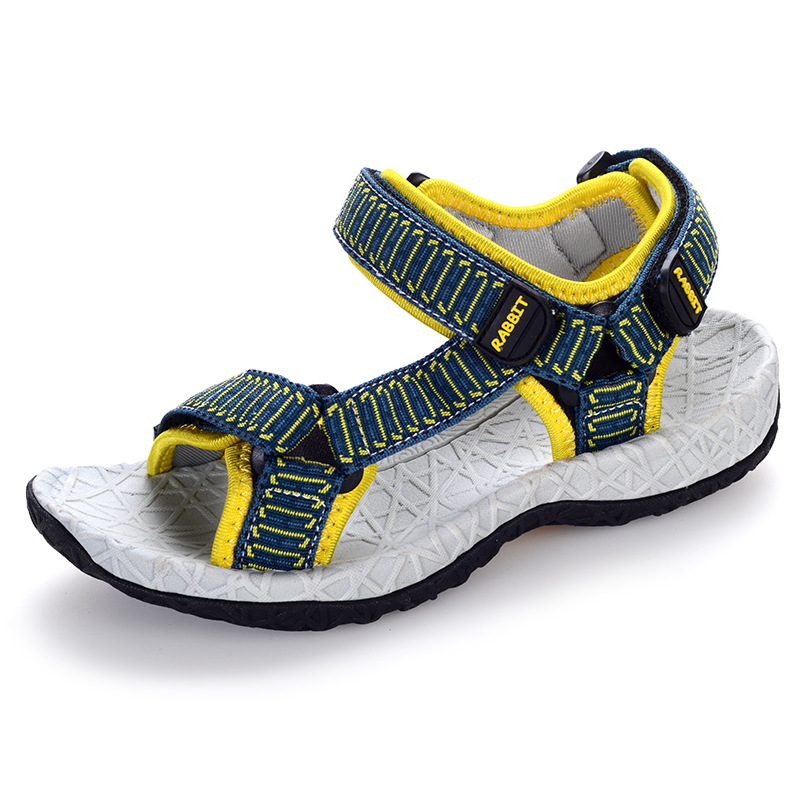 Boys sandals summer new childrens casual shoes big boy comfort open toe mixed color sandals for kids boy student beach sandals