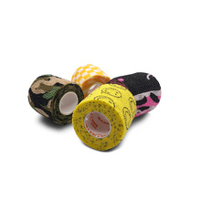 5cm*4.5m Muscle Health Care Fitnes Sport Self-Adhering Bandage Waterproof Gauze Bandage Wraps Elastic Adhesive First Aid Tape S 14 5cm stainless steel elbow scissors first aid kit accessories gauze adhesive tape scissors outdoor survial tool