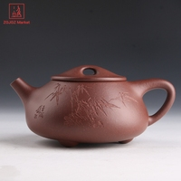 Authentic Yixing Teapot Handmade Purple Clay Kung Fu Tea Set Antique Zisha Tea Pot Craft Artists