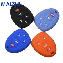 maizhi Silicone Case Cover Fit For Buick Enclave La Crosse Chevrolet Impala Suburban 1500 Pontiac Remote Smart Key 5 Buttons