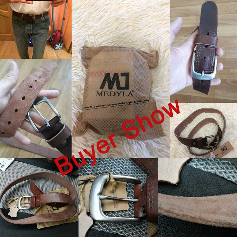 MEDYLA/итальянский ремень из коровьей кожи, винтажные ковбойские ремни из натуральной кожи с натуральным лицевым покрытием, роскошные дизайнерские ремни высокого качества