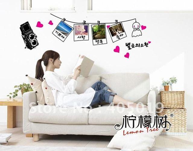 ay942b korean photo wall sticker 95x41cm removable pvc window cling