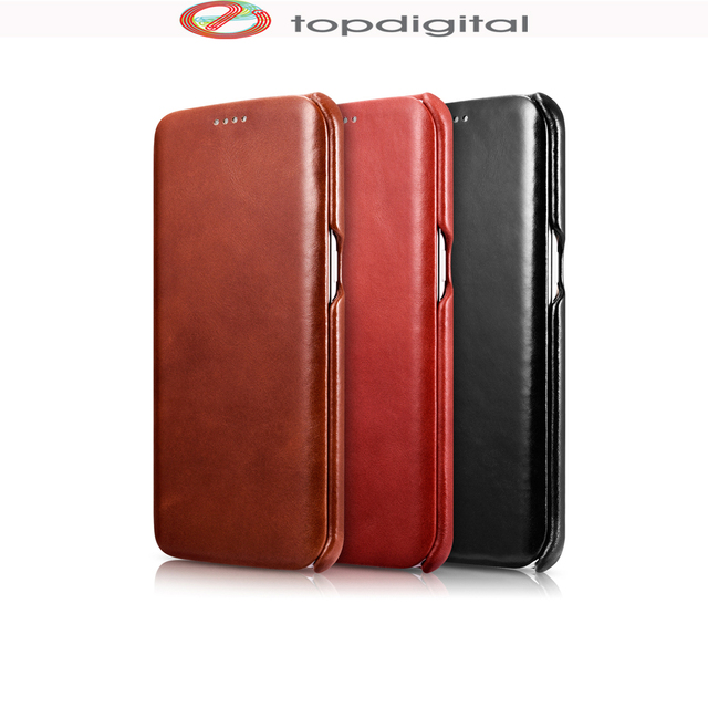 promo code d0d9f 2a244 US $18.99 |icarer Vintage Genuine Leather Case for SAMSUNG Galaxy S7 edge  (5.5inch) Real Leather Flip Folio Protective Phone Cover S7edge-in Flip ...