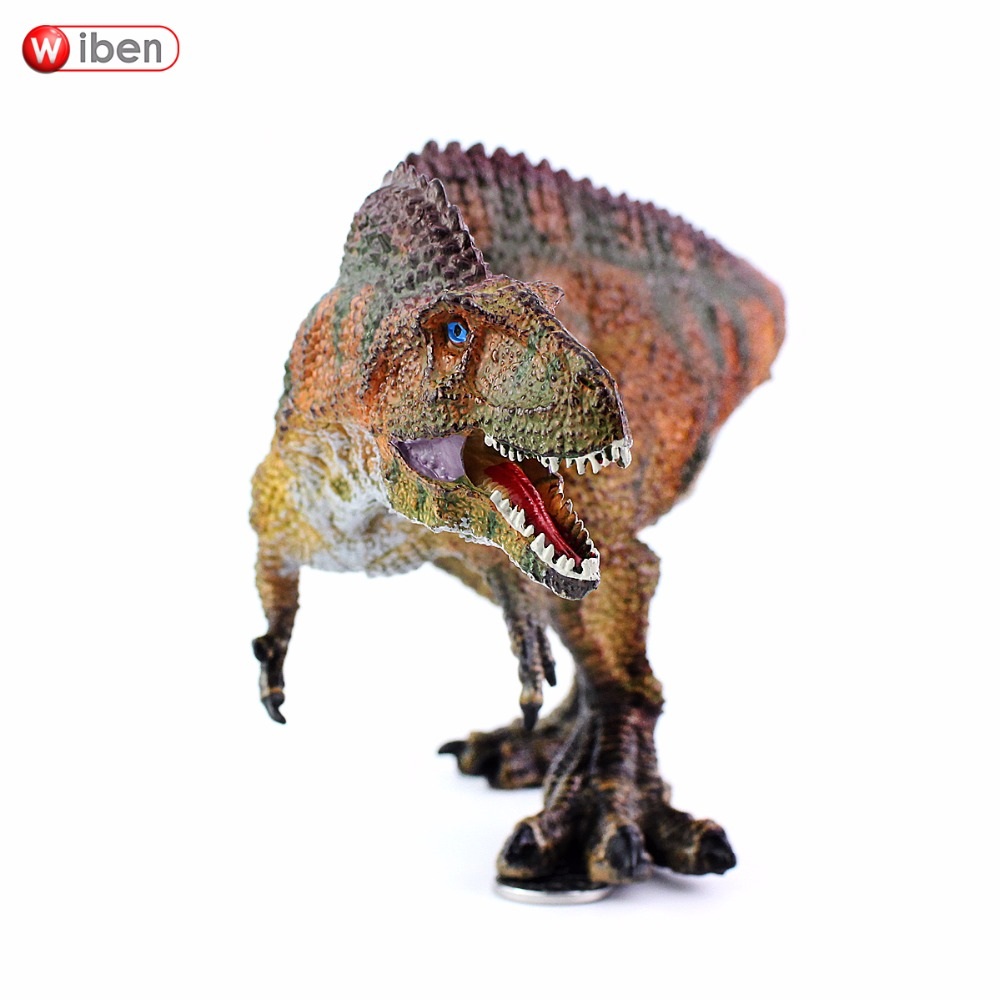 Wiben Jurassic Acrocanthosaurus Plastic toy Dinosaur Action & Toy Figures Animal Model Collection Hand Painted Souvenir Gift wiben jurassic carnotaurus action figure animal model collection vivid hand painted souvenir plastic toy dinosaur birthday gift