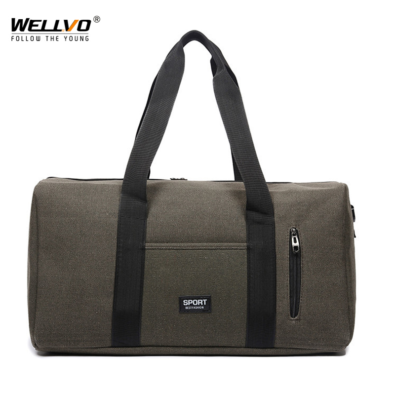 Detail Feedback Questions about Men Large Travel Duffle Canvas Luggage  Handbag Women Weekend Overnight Portable Bag Black Trip Tote Solid Shoulder  Bags ... 9309eb2d137a7