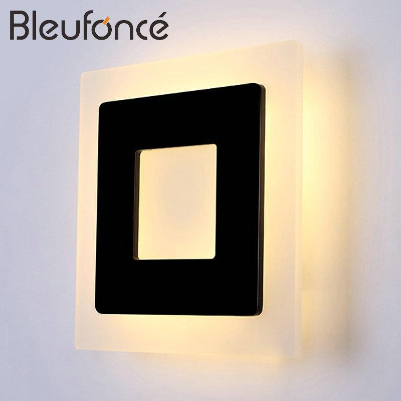 Modern Wall Lamp Indoor Home Decorative Lighting <font><b>Sconce</b></font> Aluminum Acrylic Lighting 18W Led Wall Lamp Bedroom living room Light