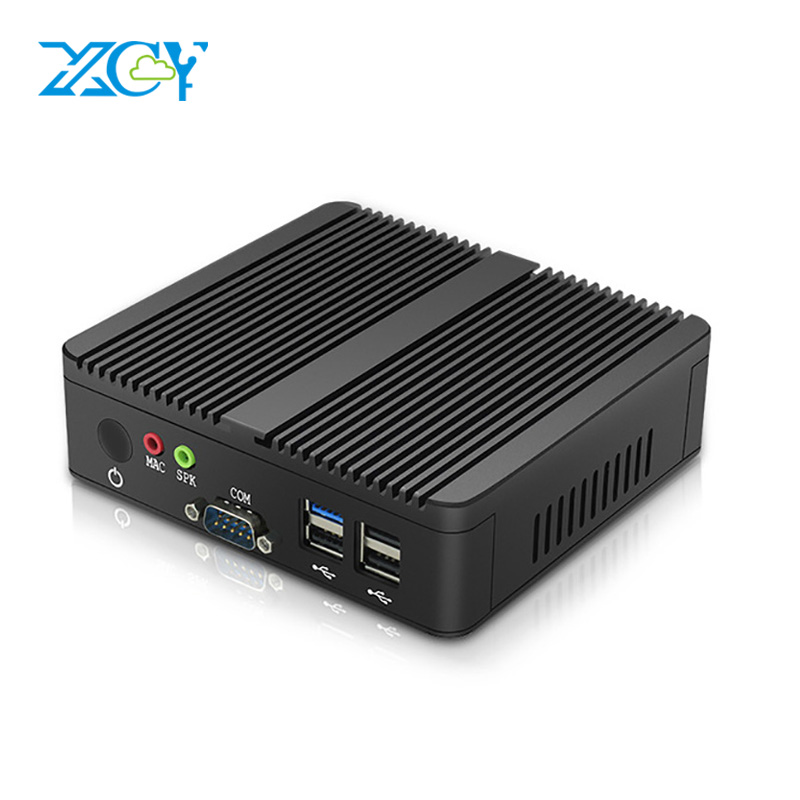 Fanless Mini PC 2*COM Pentium J2900 Quad-Cores Dual Gigabit LAN Windows 10 Desktop Computers HDMI VGA WIFI USB Mirco PC