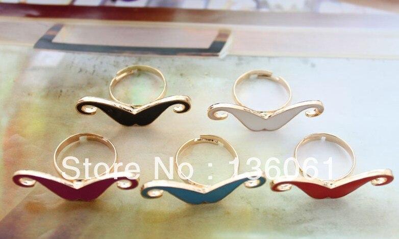 Sedia A Dondolo Per Bambini Mista : ②vintage oro colori misti smalto dei baffi di barretta anelli