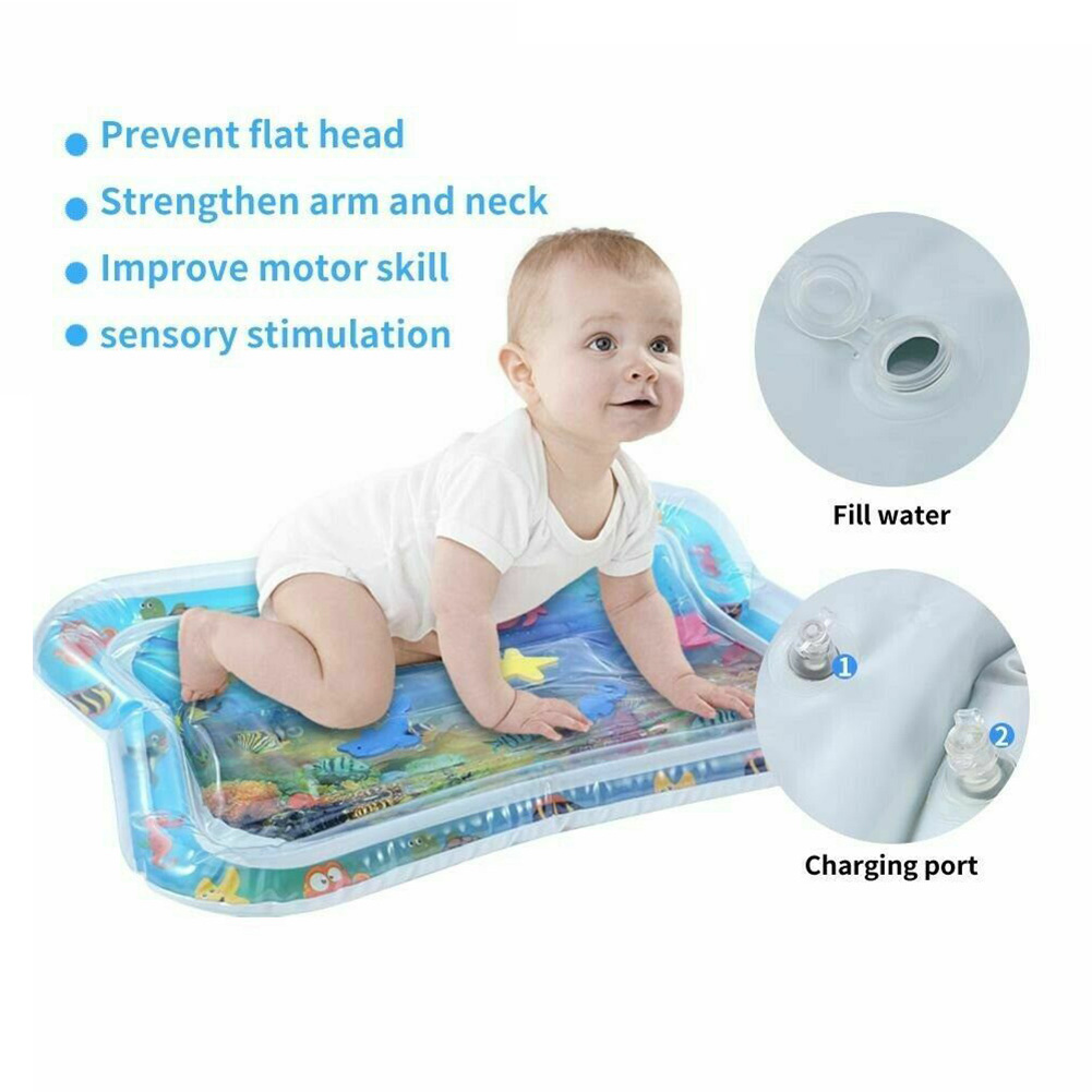 Water Filled Baby Inflatable Patted Pad Inflatable Water Cushion Playmat For Kids S7JN