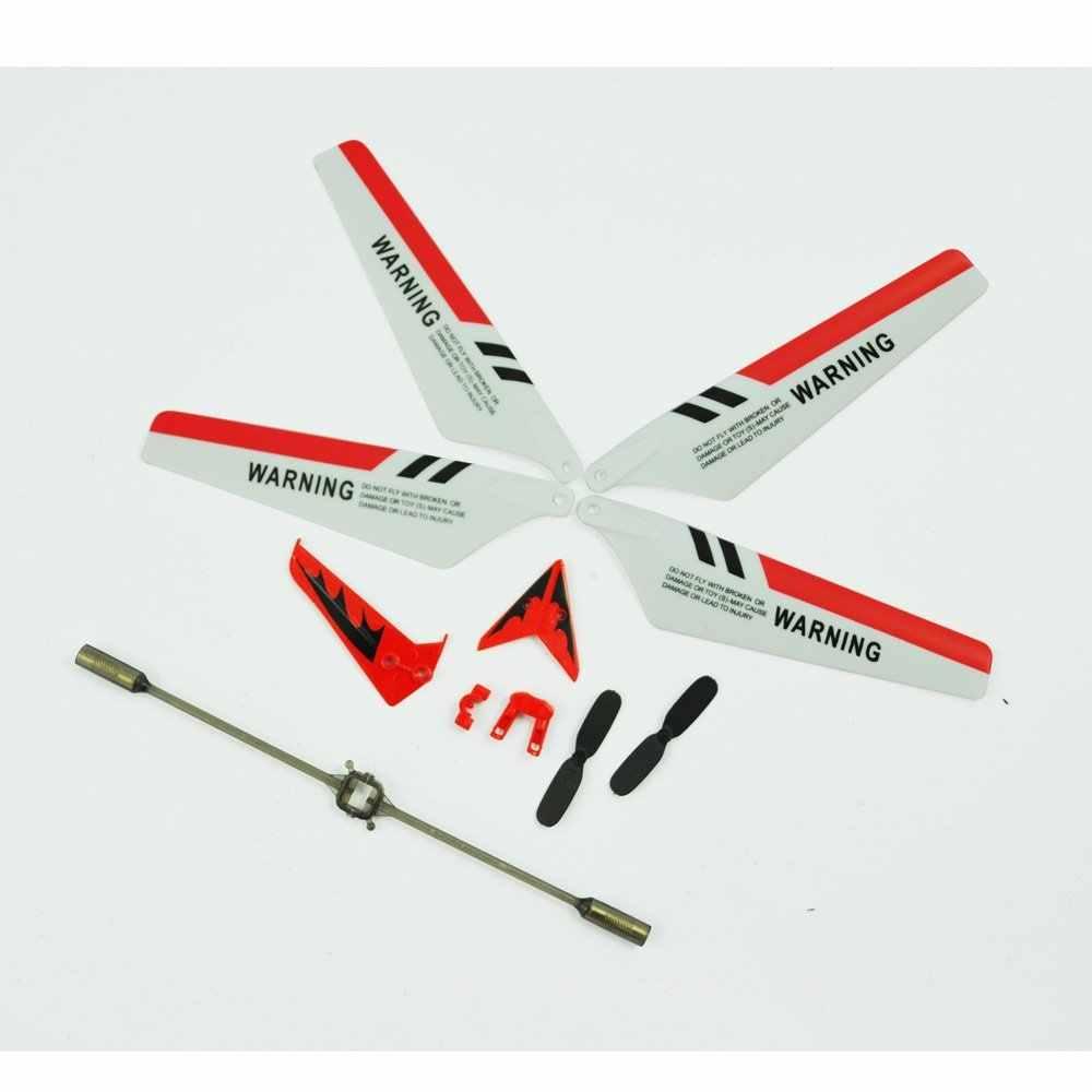 LeadingStar Volledige Set Vervangende Onderdelen voor S107 RC Helicopter, Rotorbladen, Staart Decoraties, Staart Rekwisieten, balance Bar Set zk15