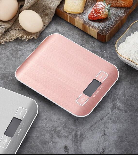 Balance de Cuisine électrique plate-forme avec écran LCD cuisson alimentaire Cuisine Balance postale Balance outils de cuisson 4
