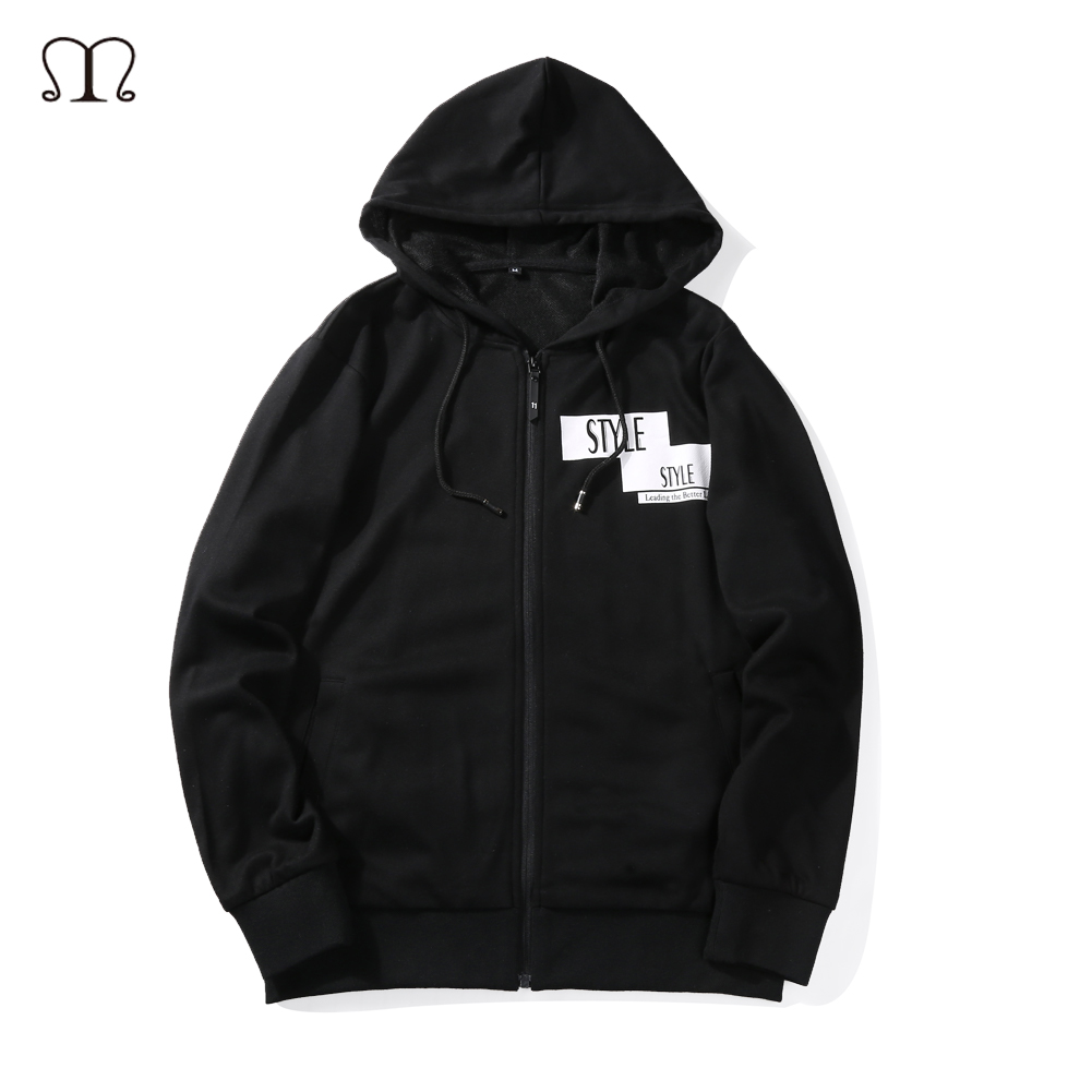 2017 New HOODIE Hip Hop Streetwear Zipper Coat Skateboard Men Pullover Hoodies Male Hooded Jackets Men Hoodies