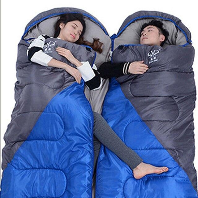 Camping warm sleeping bag outdoor adult camping sleeping bag wholesale custom winter cotton travel sleeping bag