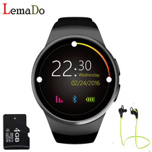 ¡ Caliente! kw18 smart watch sim tf mtk2502 pulsómetro smartwatch reloj bluetooth para apple ios android teléfono de pantalla táctil