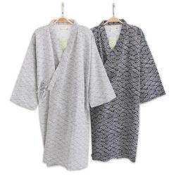Мужской простой японские кимоно халаты мужские летние с длинными рукавами 100% хлопок халат модные повседневные волны халат мужской банный