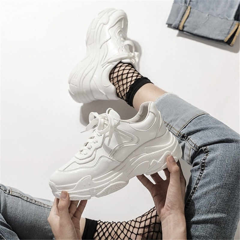 Chunky Sneakers Shoes Women New Fashion