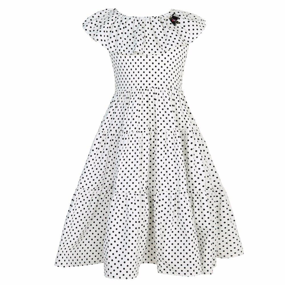 Fille Robe été Robe Fillette 2017 marque princesse Robe enfants perles à pois enfants robes pour filles vêtements