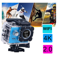 Оригинальный 100% H60 экшн Камера со сверхвысоким разрешением Ultra HD, 4 K, WiFi, 1080 P 2,0 ЖК-дисплей 170D линзы, камера на Шлем DV Камера с водонепроницаемы...