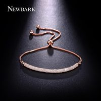NEWBARK New High Quality Retractable Bracelet For Women 3 Rows AAA CZ Cubic Zirconia Adjustable Charm